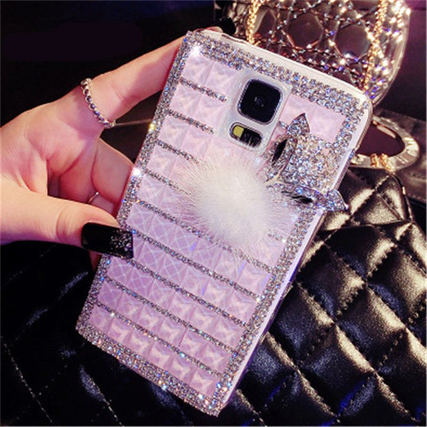 For Huawei Honor 3C Play 3C 4A/Y6 4C 4X Diamond Fashion Phone Cover Luxury Shining Fox Rhinestone PC Phone Cases