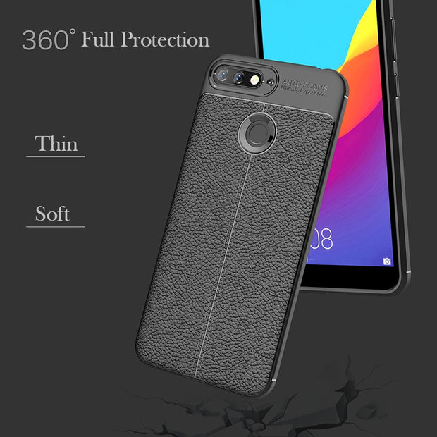 For Huawei Honor 7A Pro Case Luxury Ultra-Thin Soft TPU Leather Design Cover For Huawei Honor 7A 7 A Pro Y6 2018 Case