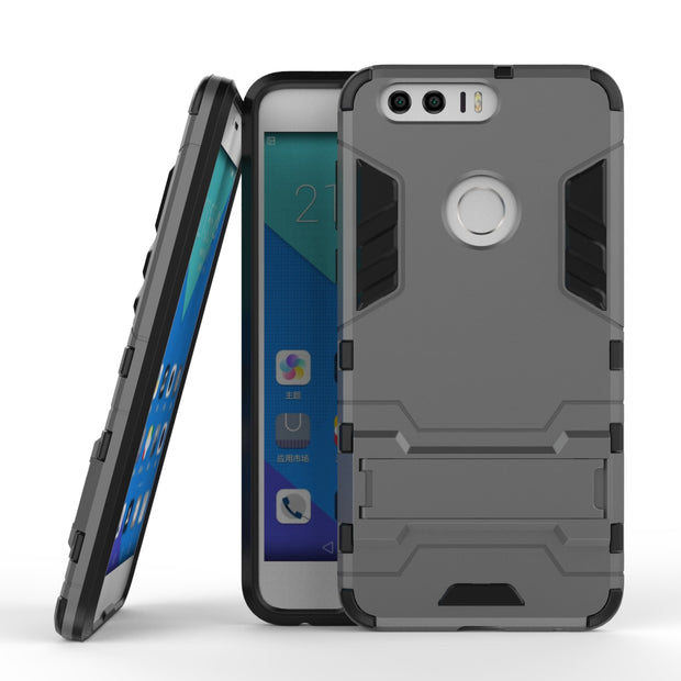 For Huawei Honor 8 Case Heavy Duty Armor Case Hybrid Hard Rugged Silicone Rubber Phone Cover For Huawei Honor 8 5.2 Inch (