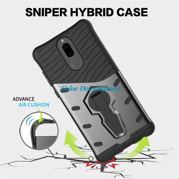 For Huawei Mate 10 Lite Case 360 Degree Rotate Hybrid TPU Armor Silicone Rubber Cover For Honor Honor 9i Nova 2i Maimang 6