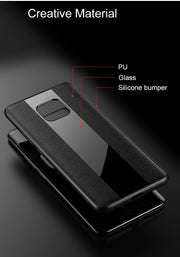 For Huawei Mate 20 Pro Case Luxury Leather Business Phone Case For Huawei Mate 20 Lite Plexiglass Cover P20 Pro Nova 3 Honor 8X