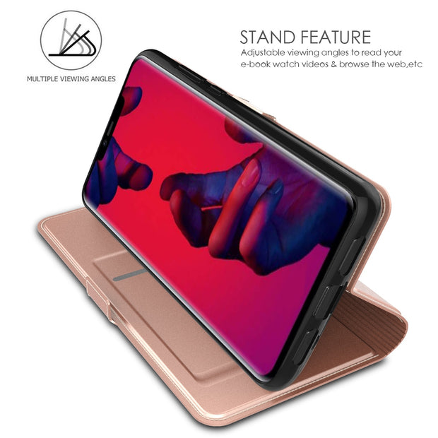 For Huawei Mate 20 Pro Case PU Leather Flip Stand Wallet Case Pocket Cover With Card Holder Magnet Buckle For Huawei Mate 20 Pro