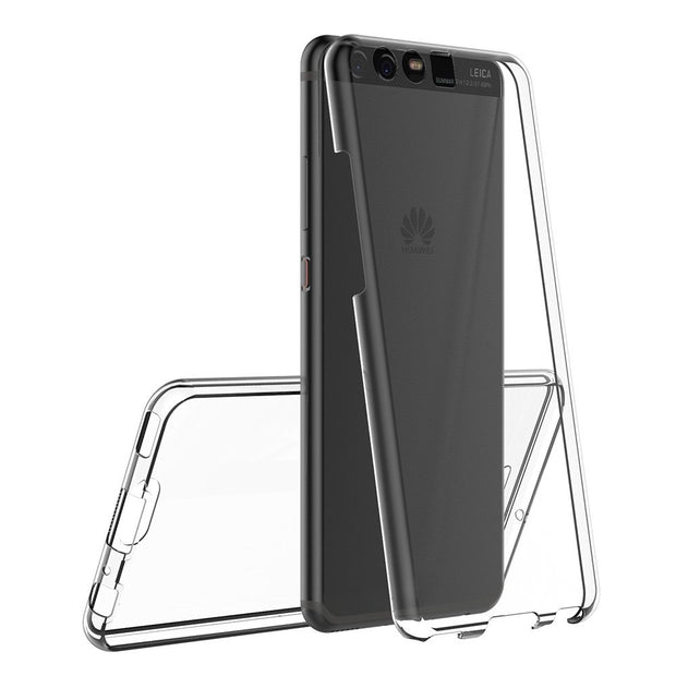 For Huawei P10 Case, P10 Lite Case, P10 Plus Case 360 Degree Full Cover Soft Clear Case Shockproof Transparent Silicone Cover