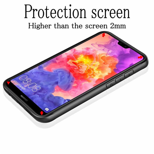 For Huawei P30 Pro Case Soft Silicone+Transparent PC Armor Protective Back Cover Case For Huawei P30 P 30 Phone Shell Capa Case