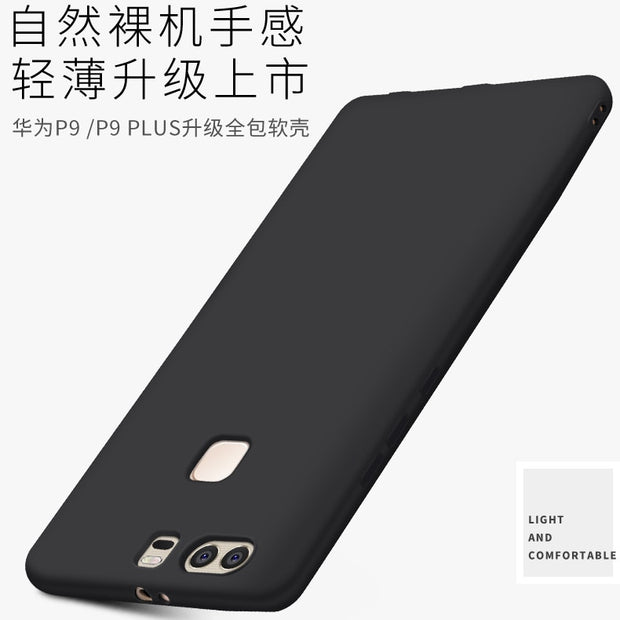 For Huawei P9 P9Lite P9Plus P8 Lite 2017 Case Soft TPU Slim Silicone Frosted Protective Back Cover Cases For Huawei P9 Lite