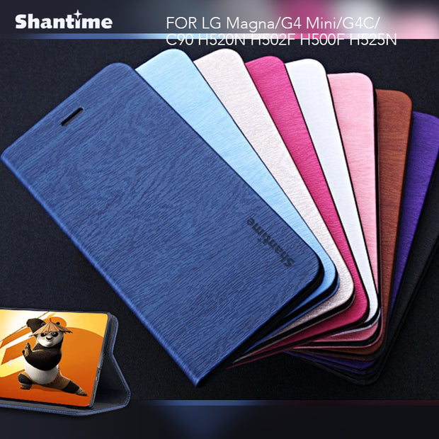 For LG Magna Book Case Leather Phone Case Soft Silicone Back Cover For LG G4 Mini G4C H502F H500F H525N C90 Business Case