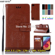 "For LG Q6 Alpha Plus Q6+ 5.5"" 3D Pattern Owl Luxury Flip PU Leather Case Card Insert Slots Wallet Stand Cover"