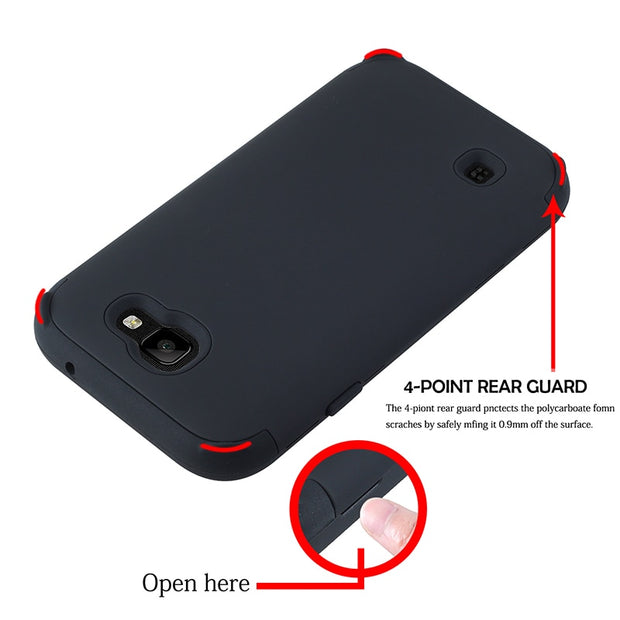 For LG K3 2017 Case Heavy Duty Armor Combo Defender Stand Holder Case For LG K4 2017 Silicon Shockproof Case