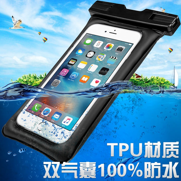 "For Meizu U10/U20/M3 Note/M5 Note/M2note/MX4/MX5/pro/MX6/Pro6/Pro5 6.0"" Waterproof Case Pouch Bubble Float Bag Water Proof Cover"
