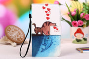 For Micromax Q346 Fashion PU Leather Cases,Painting Patterns Stand Wallet 2 Credit Card Slots Cover+Lanyard Gift