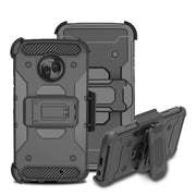 For Motorola Moto X4 Case Heavy Duty Hybrid Armor Case Drop Protective Belt Clip Holster Cover For Motorola Moto X4 X 4 2017 }