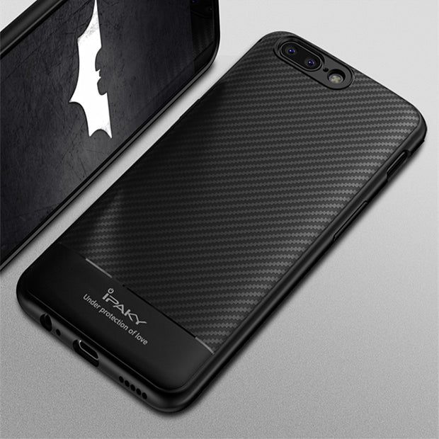 info for 87c06 d686b For OnePlus 5 Case IPaky TPU Silicone Shockproof Cover Carbon Fiber Pattern  Case For One Plus 5 OnePlus 5 1+5 Case Coque