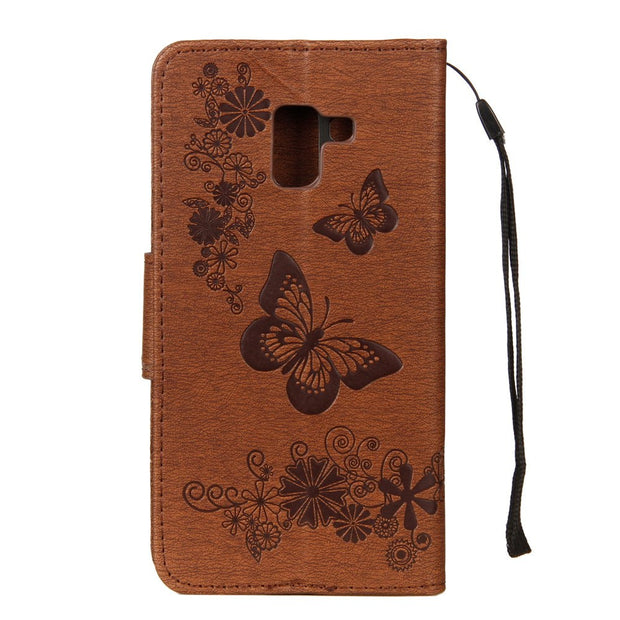 For Samsung Galaxy A7 2018 SM-A750GN/DS A8 A6 Plus A3 A5 2017 A9 Case Flip Leather Cover For Samsung A7 2018 A750 J4 J6 J5 Case