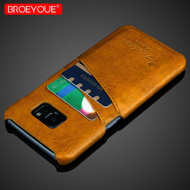 For Samsung Galaxy Note 9 Case Luxury Vintage Leather Cover For Samsung Galaxy S9 S8 Plus S7 Edge Note 8 Case Wallet Card Slot