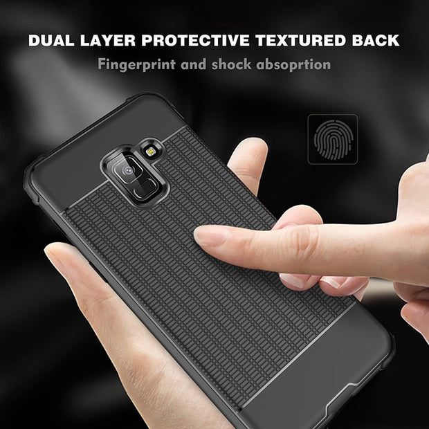 For Samsung Galaxy Note 9 Case Shockproof Soft TPU Cover For Samsung A7 2018 Carbon Fiber Cover For Samsung S8 S9 Plus A9 2018