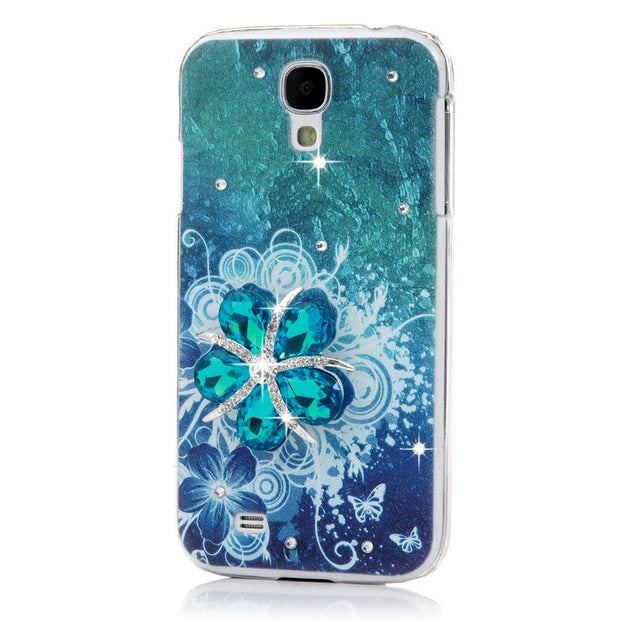 For Samsung Galaxy S4 Rhinestone Case Fashion Colorful Painting Luxury Glitter Crystal Ultra Slim Hard Plastic Back Cover Cases
