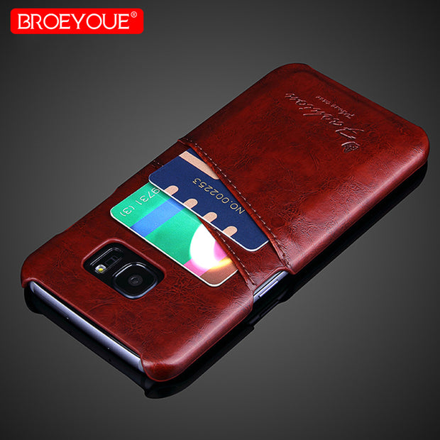 For Samsung Galaxy S8 Case Note 8 9 Vintage Leather Cover For Samsung Galaxy S9 Plus S8 Plus S7 Edge Case Wallet Card Slot Bag