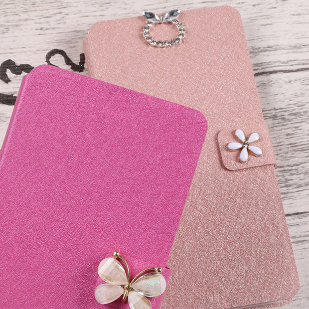 For Samsung Galaxy Trend Plus S7580 S7582 Case Cover Luxury PU Leather Flip Wallet Cases Fundas Phone Cover Bag Card Slot Coque