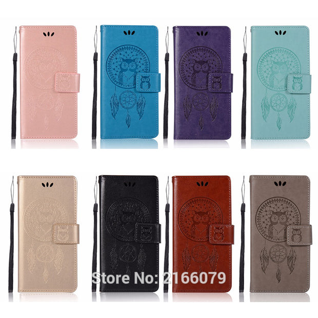 "For Sony Xperia XA F3111 F3113 F3115 5.0"" 3D Pattern Owl Luxury Flip PU Leather Case Card Insert Slots Wallet Stand Cover"