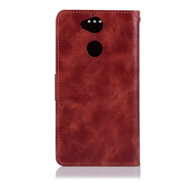 For Sony Xperia XA2 With Lanyard PU Leather Case Phone Bags For Sony Xperia XA2 Ultra Cover Kickstand Flip Case TPU Back Cover
