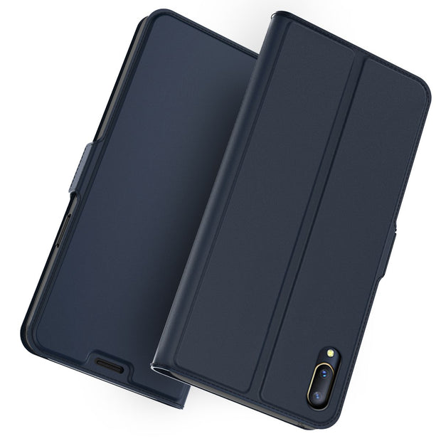 For Vivo V11 Pro Case PU Leather Flip Stand Wallet Case Full Body Pocket Cover With Card Holders &Magnet Buckle For Vivo V11 Pro