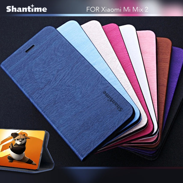 For Xiaomi Mi Mix 2 Book Case Luxury Leather Phone Bag Case Soft Silicone Back Cover For Xiaomi Mi Mix Business Wallet Case