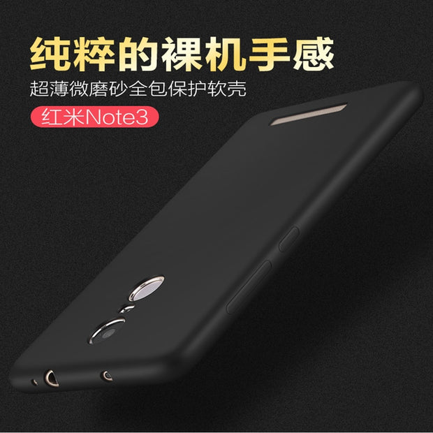 For Xiaomi Redmi Note 3 4 Case Soft TPU Slim Silicone Frosted Protective Back Cover Cases For Xiaomi Redmi Note 4 3 Full Cover