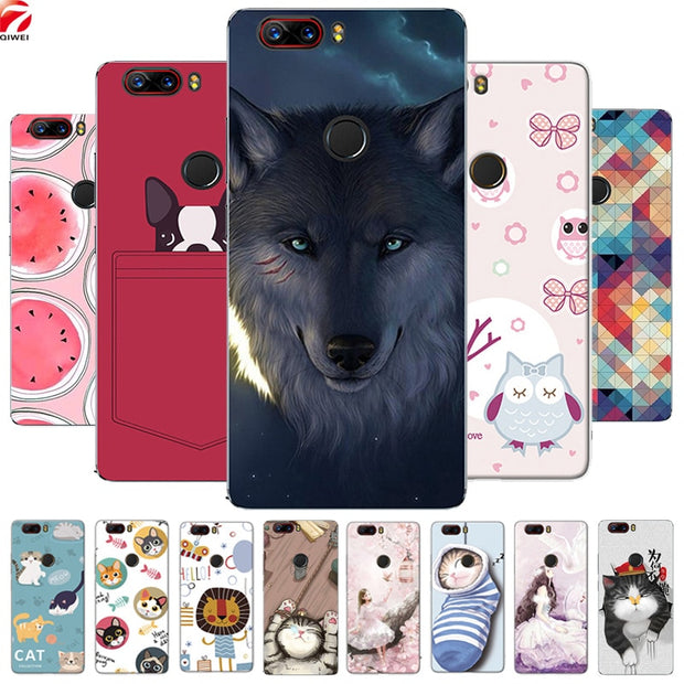 For ZTE Nubia Z17 Lite Case Cute Painted Capa Silicon Soft TPU Back Cover  For ZTE Nubia Z17 Lite Phone Cases Fundas Coque Para