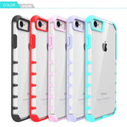 For IPhone 7 Case Transparent Hard Shockproof Anti Shock Knock Cover For Apple IPhone 7 Plus Case Clear Mobile Phone Accessories