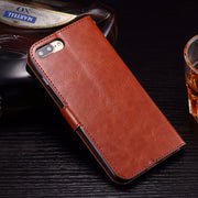 For IPhone XS Max XR X SE 5 5S 5C 4 4S 6 6S 8 7 Plus Vintage Wax Crazy Horse Flip Leather Wallet Case TPU Holder Cover Stand