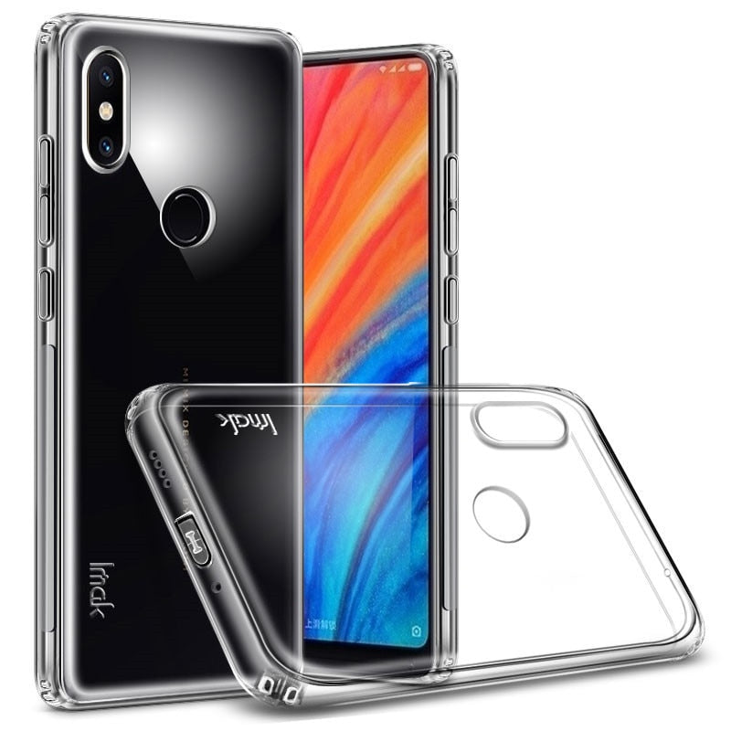 competitive price 428ad 1852a For Xiaomi Mi Mix2s Case IMAK Clear Silicone TPU Soft Back Cover Case Free  Screen Protector For Mi MIX2S- Transparent