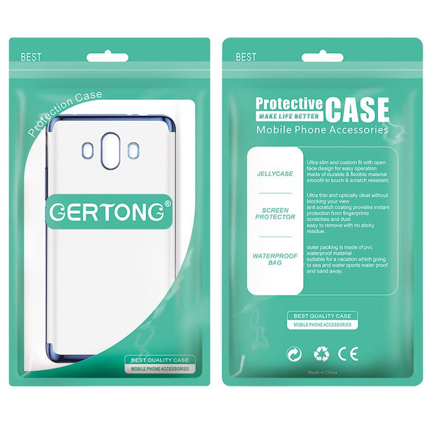 GerTong Transparent Plating TPU Phone Cases For Huawei Mate 10 Lite Case P10 Plus Mate 10 Pro For Honor 7X 9 V9 Thin Cover Shell
