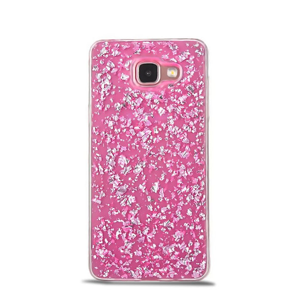 Gold Foil Bling Paillette Sequin Skin Clear Soft Silicone Fundas Cover Case For Samsung Galaxy A3 A5 J5 J7 2017 Ultra Slim Back