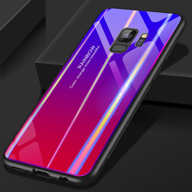 Gradient Color Aurora Case For Samsung S9 Plus Note 9 Huawei P20 Xiaomi 8 Phone Cover For Samsung Xiaomi Huawei Gradient PC TPU