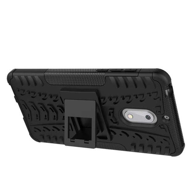 HEAVY DUTY SHOCKPROOF Rugged Dual Layer Holster Hard Case With Kickstand For Nokia 6