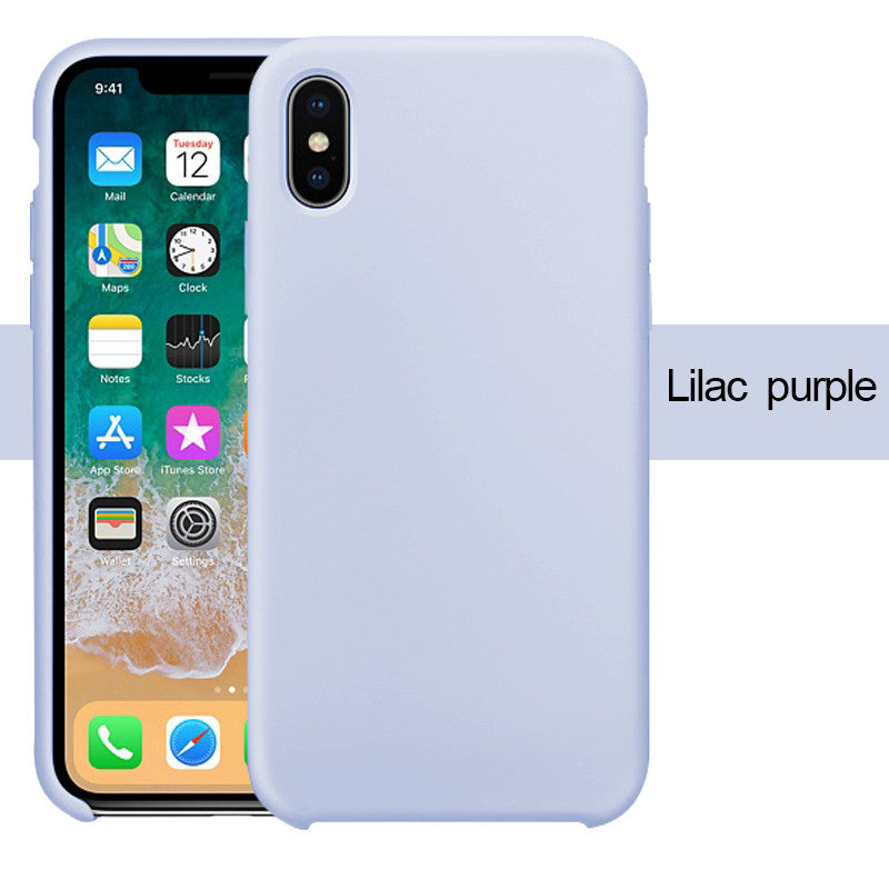 iphone xr silicone case lilac