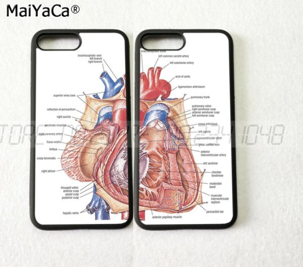 Heart Anatomy BFF Best Friends Foreve Pair Silicone Softe Phone Cases For IPhone 5s Se 6 6s Plus 7 7plus 8 8plus X XR XS MAX