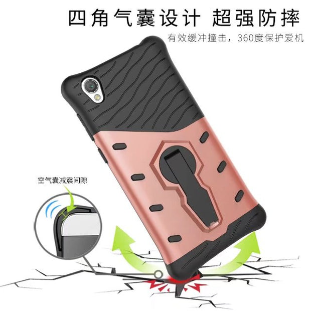 Heavy Duty Case Full-body Rugged Hybrid Protective Cover Impact Resistant For Sony Xperia L1