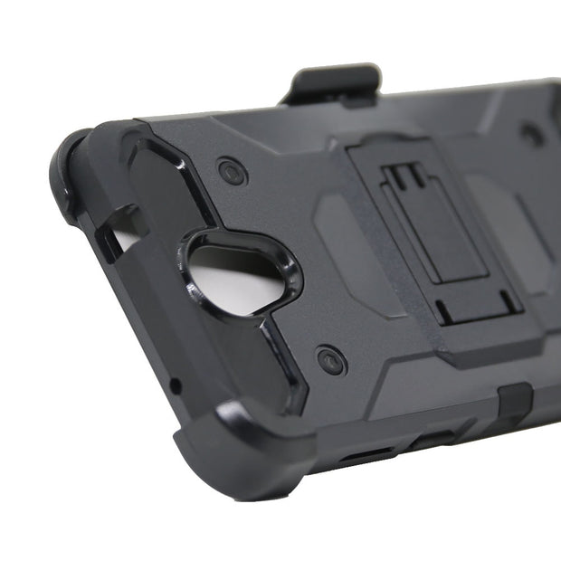Heavy Duty Hybrid Rugged Case Shockproof Belt Clip Holster Cover For ZTE Prestige 2 N9136/Maven 3 Z835/Prelude+ Z851/Overture 3