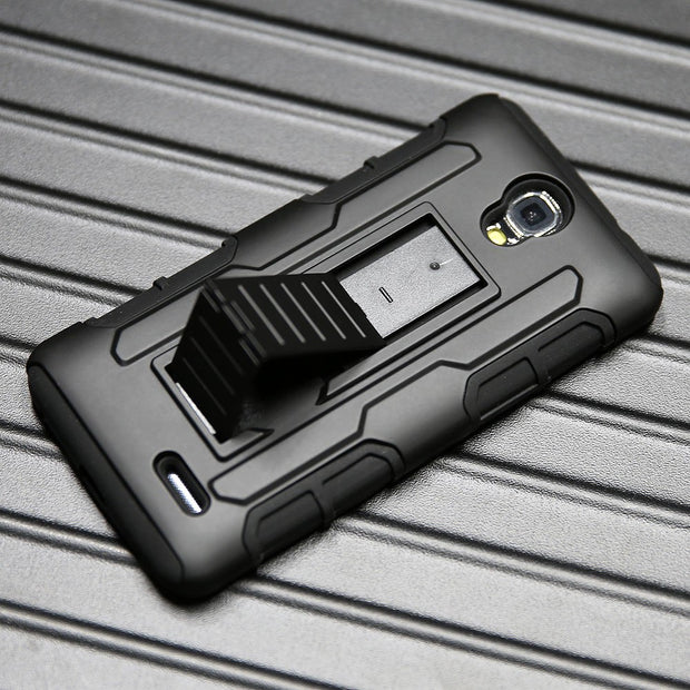 Heavy Duty Rugged Case Anti Drop Belt Clip Holster Hard Cover For ZTE Prestige 2 N9136/Maven 3 Z835/Prelude+ Z851/Overture 3 }