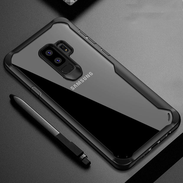 HereCase PC+TPU For S9 Plus Shockproof Bumper Case For Samsung Galaxy S9 S8 Plus Hybrid Clear Back Cover For A8 2018 Plus Note8