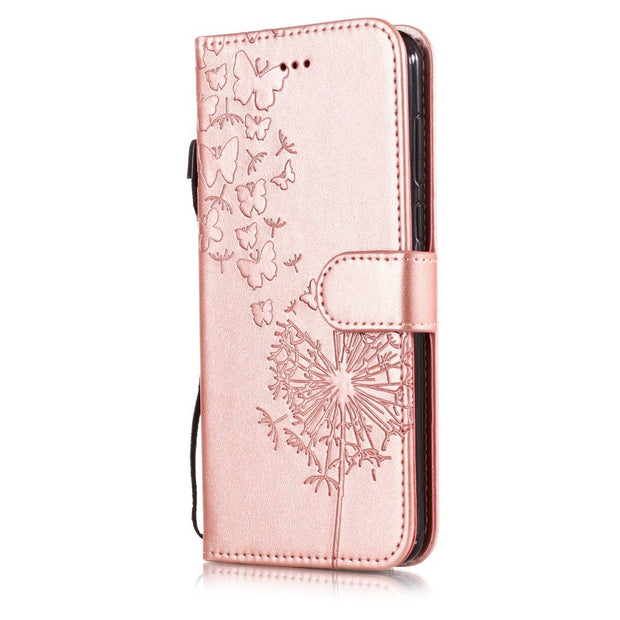 "Honor 7A Case On For Huawei Honor 7A Case 5.45"" Flip Leather Dandelion Phone Case For Huawei Y5 Y6 Y9 2018 Case Cover Coque"