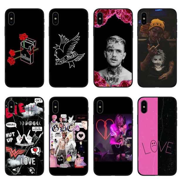 Hot POP Rapper Lil Peep High Quality Black Hard PC Phone Cases Cover For IPhone 6 6s 7 8 Plus 5s Se X10 XR MAX