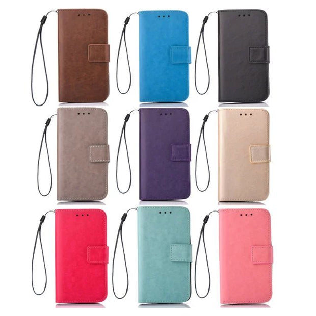 "Hot Sale!For LG G5 Solid Color Wind Chimes Embossed PU Leather Flip Phone Cover Cases With Wallet 5.3"" Fundas Capa Para"