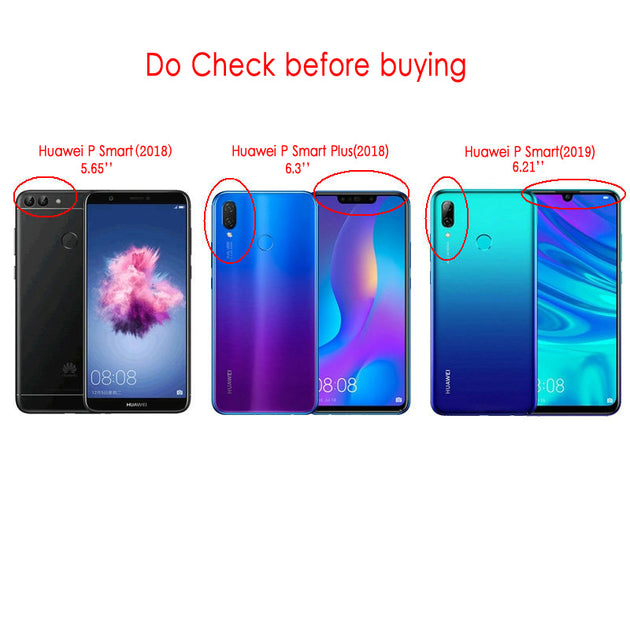 scarpe sportive d3fd9 5fb16 Huawei P Smart 2018 Case Leather Funda Huawei P Smart Plus Case Flip Cover  360 Protect For Huawei P Smart 2019 Wallet Cover
