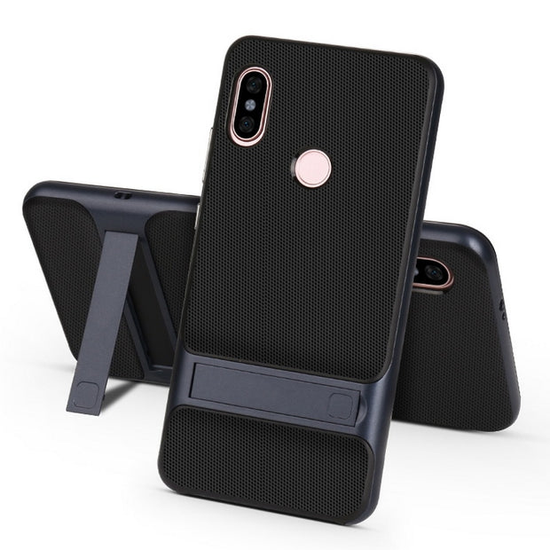 Hybrid 2 In 1 Armor Case For Xiaomi Redmi Note5 Full Protective Shockproof Back Cover For Xiaomi Redmi Note 5 Pro Kickstand Case