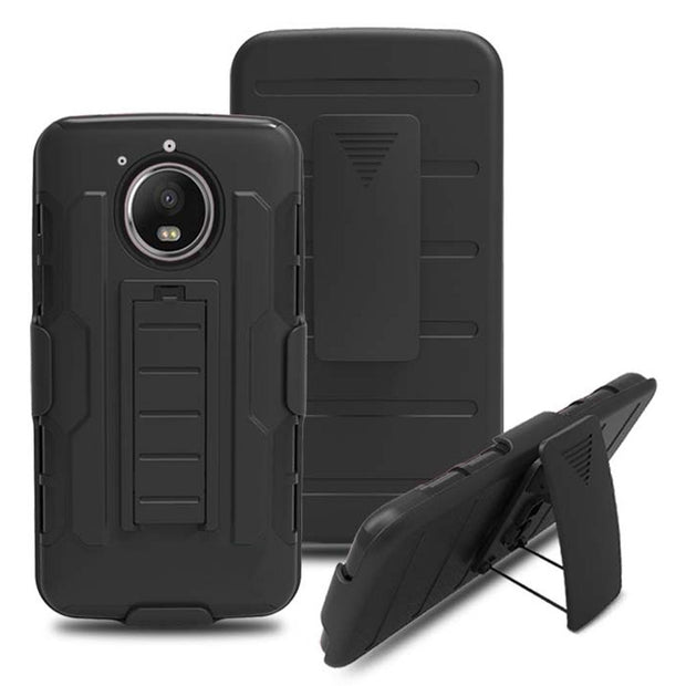 Hybrid Armor Case For Moto E4 Plus Belt Clip Shockproof Holster Cover For Motorola Moto E4 Plus XT1770 XT1771 XT1773 XT1775 }