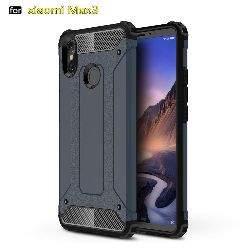competitive price 0cf55 77bfe Hybrid Hard Cover Case For Xiaomi Mi Max 3 Case Xiaomi Max 3 Max3 Back  Cover Heavy Duty Rubber Armor Tough Rugged Phone Case