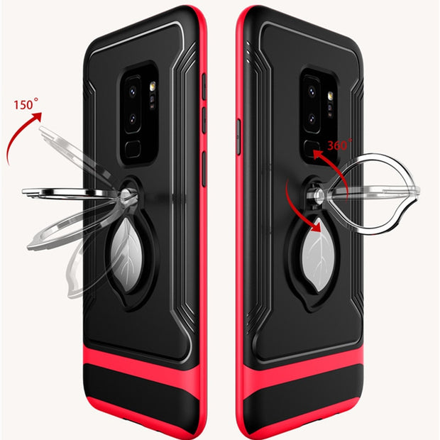 Hybrid Shockproof Defender Case Maple Leaf Ring Durable Protector Hard Back Cover For Samsung Galaxy S9 S9Plus Note8