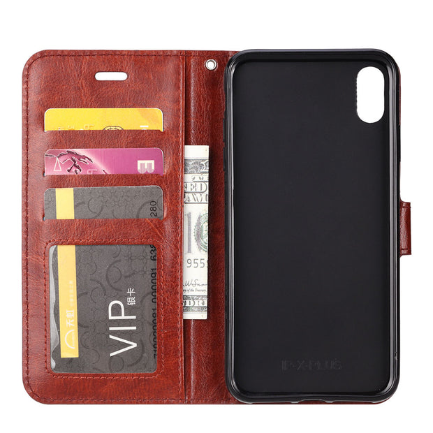 IDOOLS Case For Iphone 9 Plus Luxury PU Leather Wallet Flip Phone Cover Funda Bags Cases For Iphone 9 Plus With Card Holder